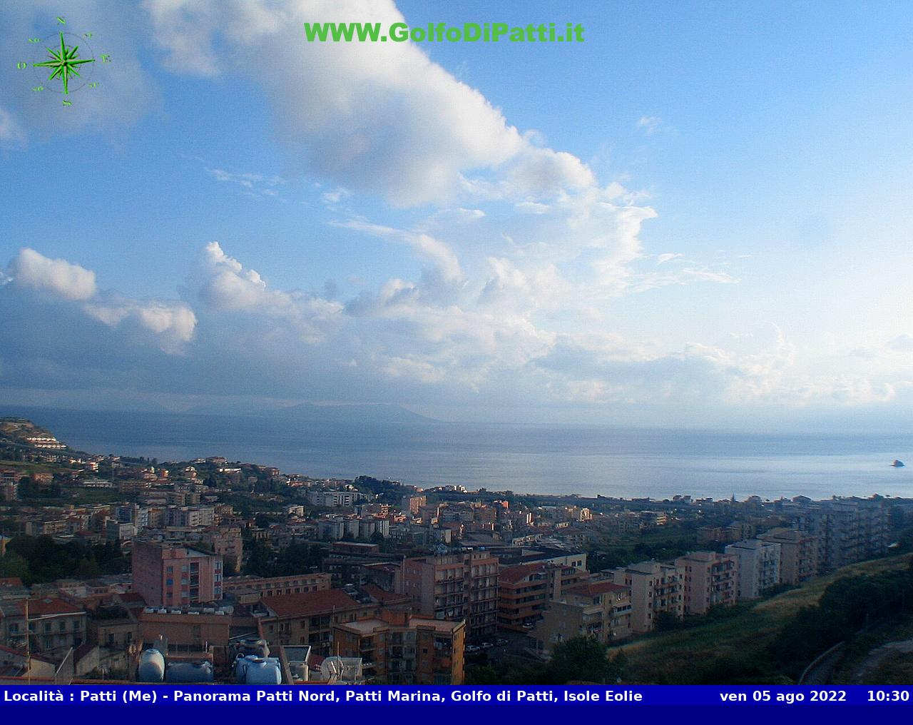 Webcam Patti Marina Is. Eolie Messina