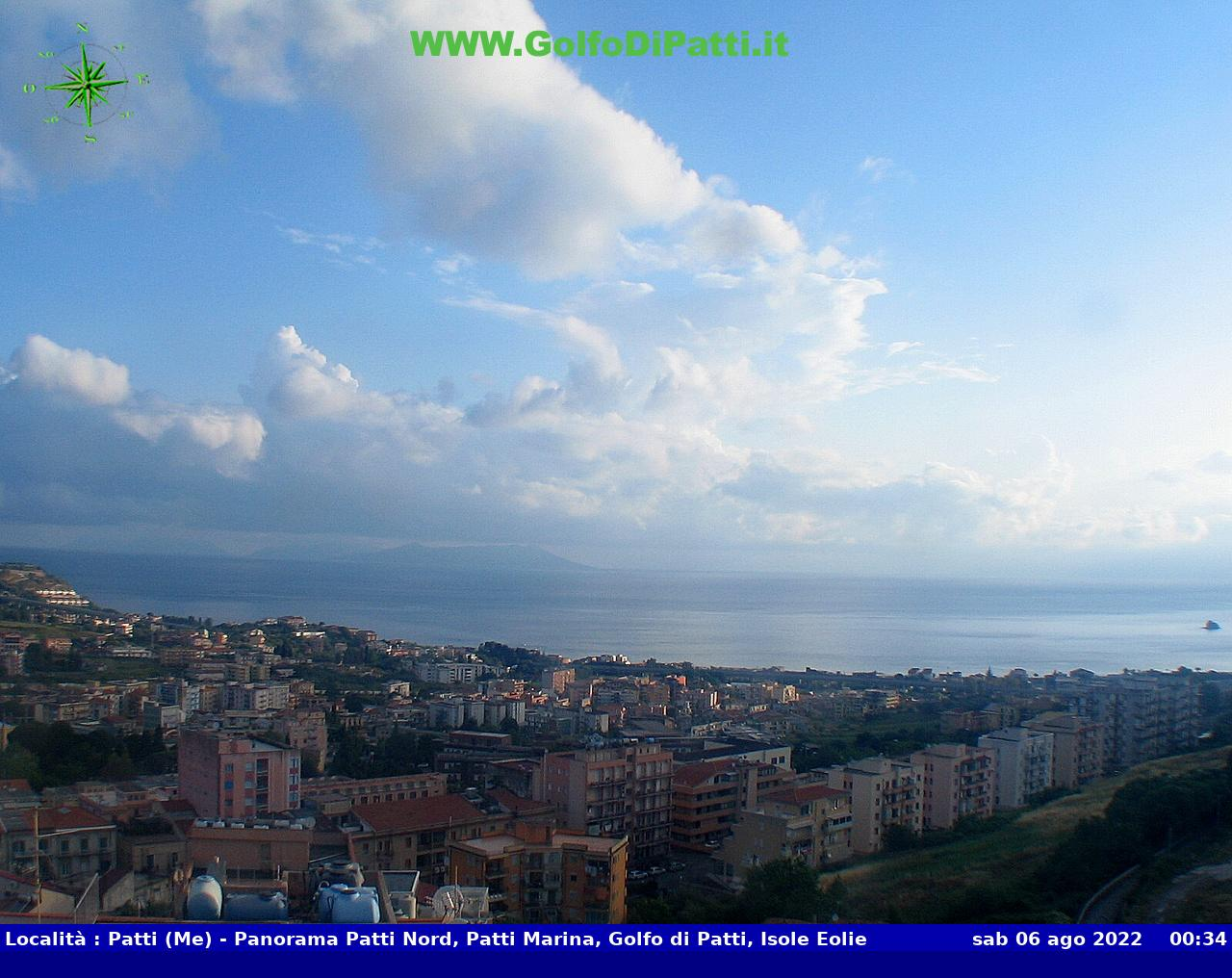 Webcam sul Golfo di Patti - Sicilia Live webcamera